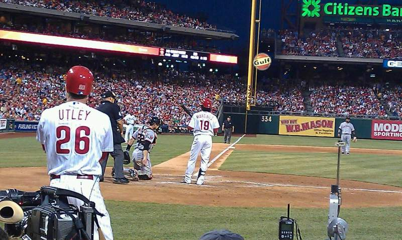 Citizens Bank Park, section: G, row: 2, seat: 3