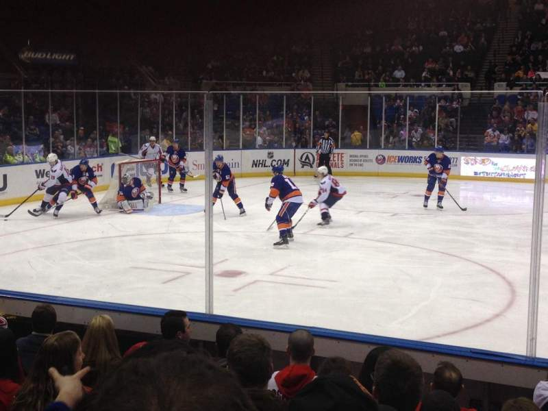 Seating view for Old Nassau Veterans Memorial Coliseum Section 118 Row F Seat 1