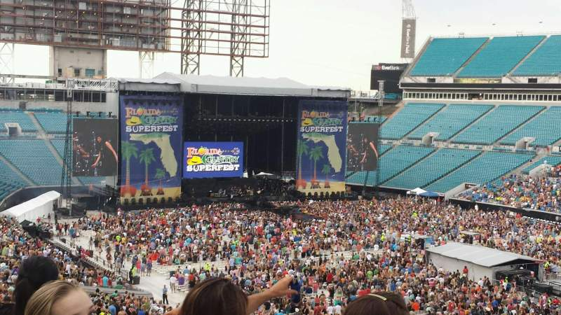 Seating view for EverBank Field Section 202 Row BB Seat 1
