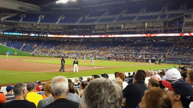 Seating view for Marlins Park Section 23 Row E Seat 14