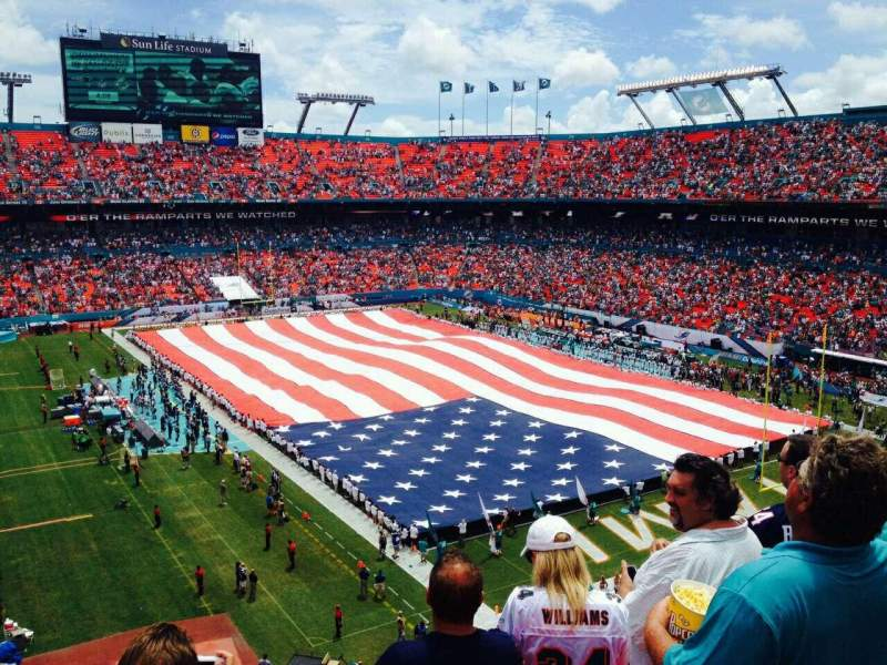 Seating view for Hard Rock Stadium Section 404 Row 4 Seat 11