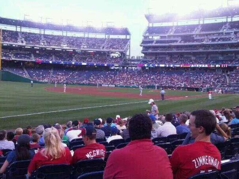 Seating view for Nationals Park Section 111 Row J Seat 8