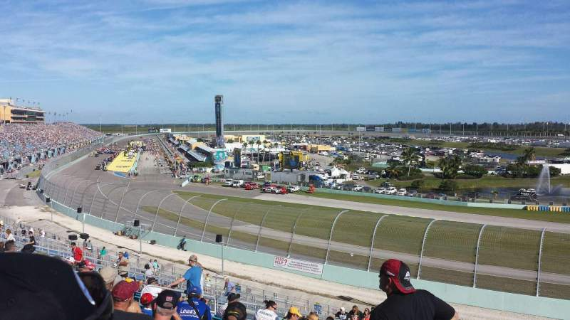 Seating view for Homestead-Miami Speedway Section 184 Row 44 Seat 3