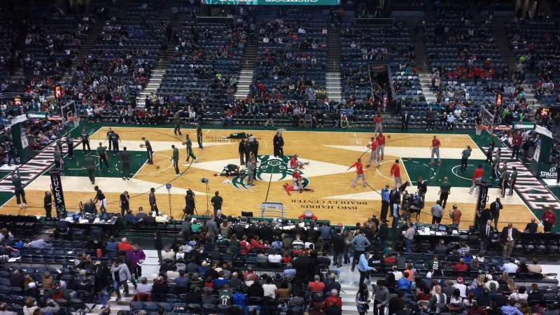 Seating view for BMO Harris Bradley Center Section 400 Row A Seat 2