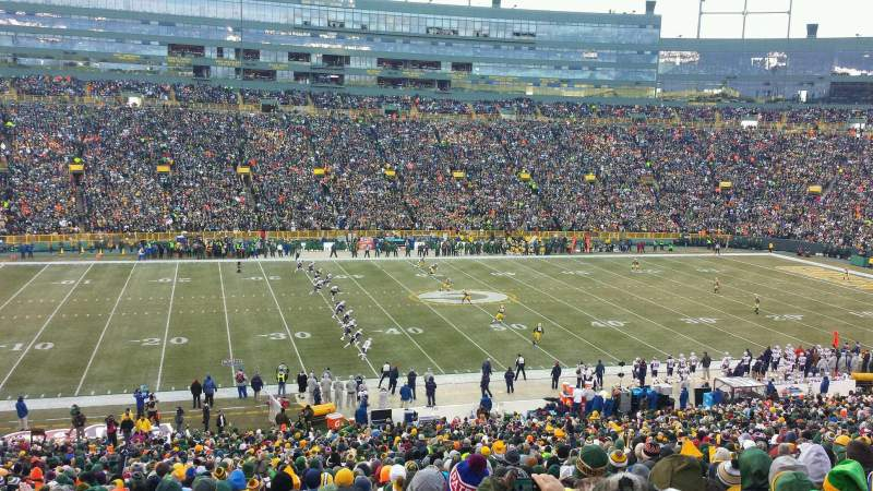 Seating view for Lambeau Field Section 123 Row 52 Seat 14