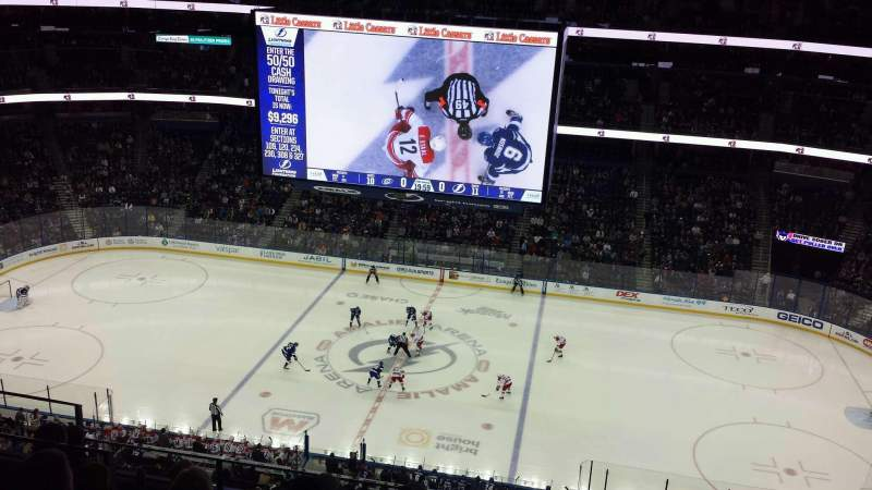 Seating view for Amalie Arena Section 330 Row H Seat 8
