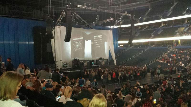 Seating view for Amalie Arena Section 112 Row S Seat 24