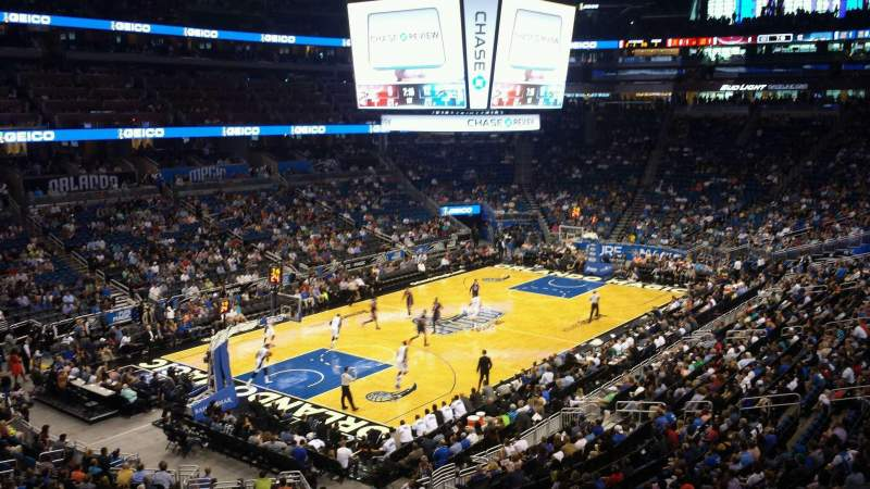 Seating view for Amway Center Section Chase Club Suite A Row C Seat 8