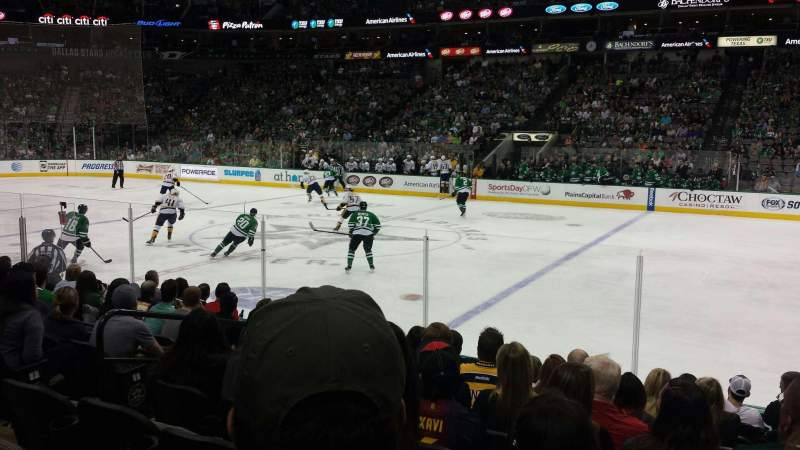 Seating view for American Airlines Center Section 105 Row K Seat 12