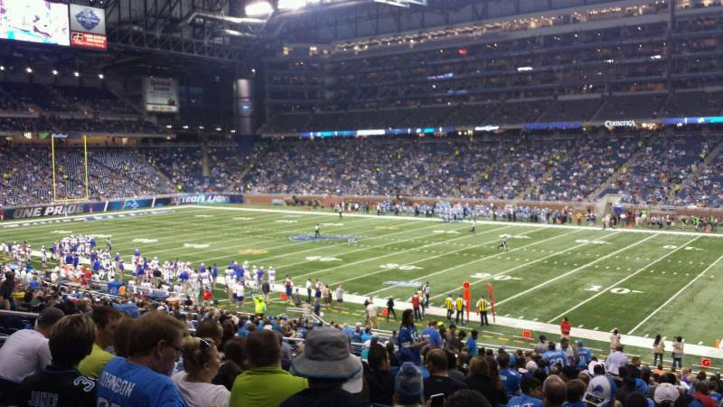 Seating view for Ford Field Section 131 Row 33 Seat 15