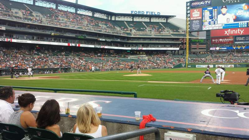 Seating view for Comerica Park Section 120 Row 9 Seat 6
