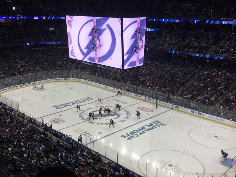Seating view for Amalie Arena Section 327 Row F Seat 13