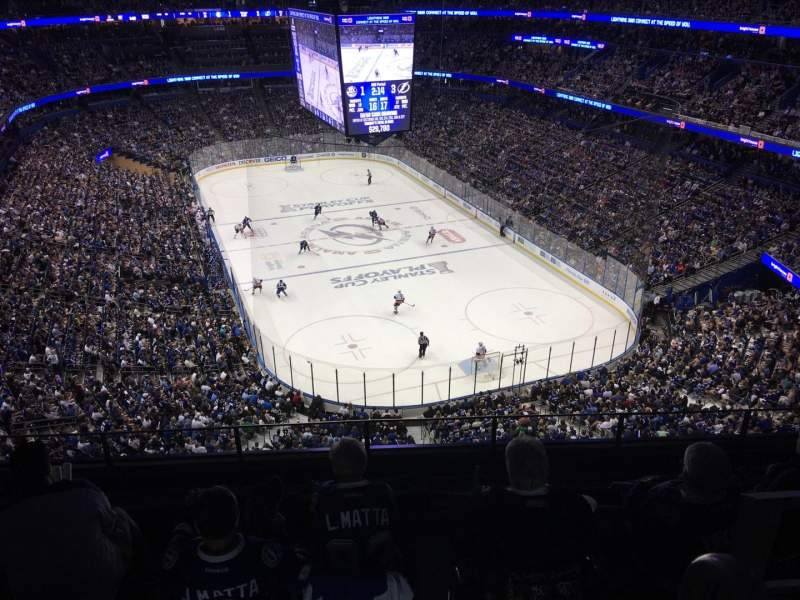 Seating view for Amalie Arena Section 325 Row G Seat 8