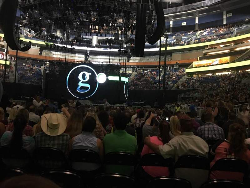 Seating view for Amway Center Section F7 Row Q Seat 7