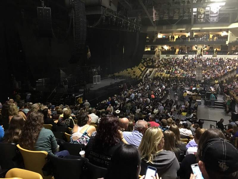 CFE Arena, section: 105, row: V, seat: 1