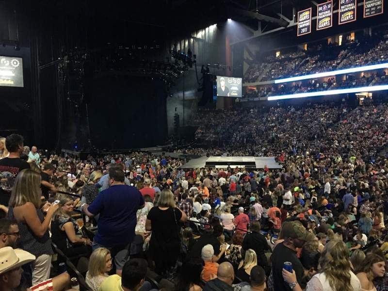 Jacksonville Veterans Memorial Arena, section: 113, row: M, seat: 5
