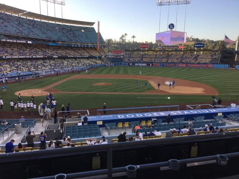 Seating view for Dodger Stadium Section 128LG Row C Seat 7