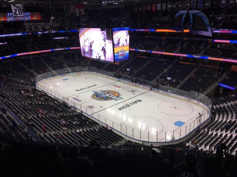 Amalie Arena, section: 312, row: J, seat: 8