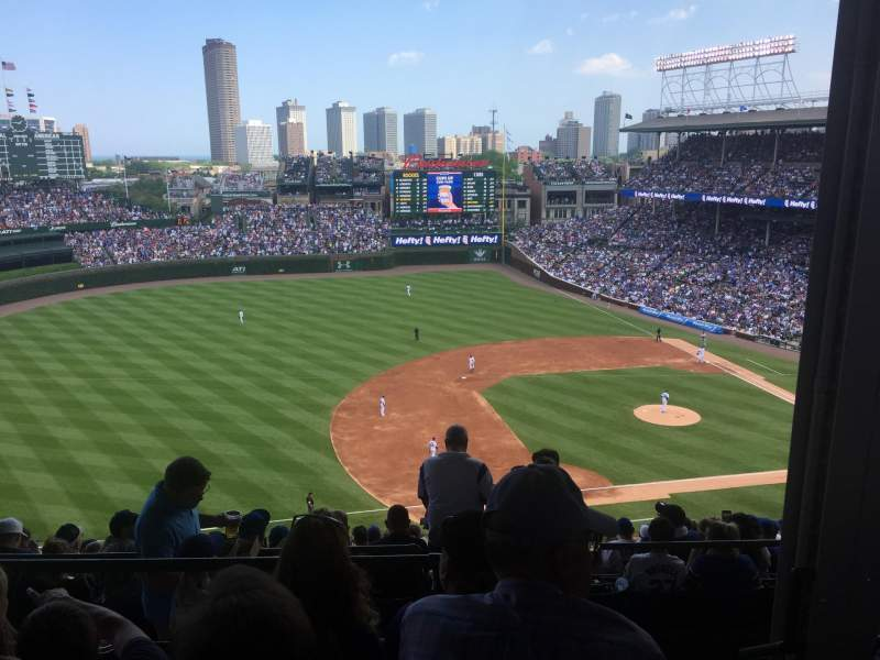 Seating view for Wrigley Field Section 511 Row 4 Seat 101