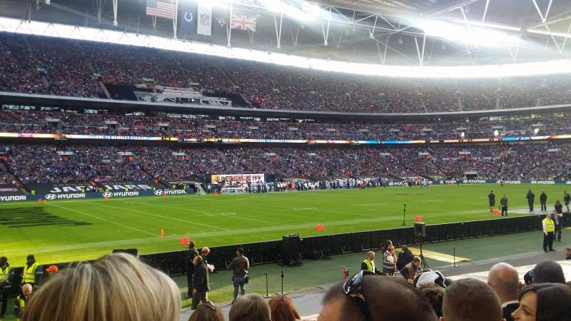 Seating view for Wembley Stadium Section 105 Row 15 Seat 73