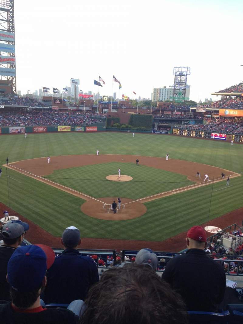Seating view for Citizens Bank Park Section 222 Row 4 Seat 5