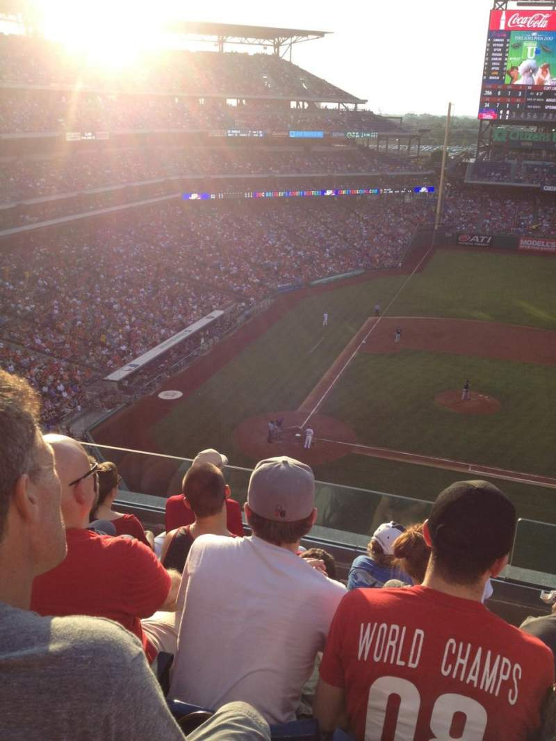 Seating view for Citizens Bank Park Section 316 Row 5 Seat 7