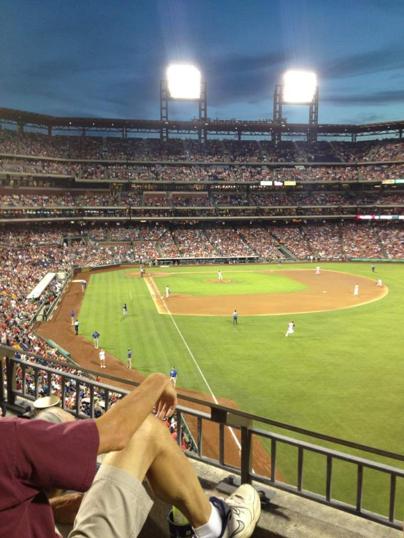 Seating view for Citizens Bank Park Section 206 Row 2 Seat 13