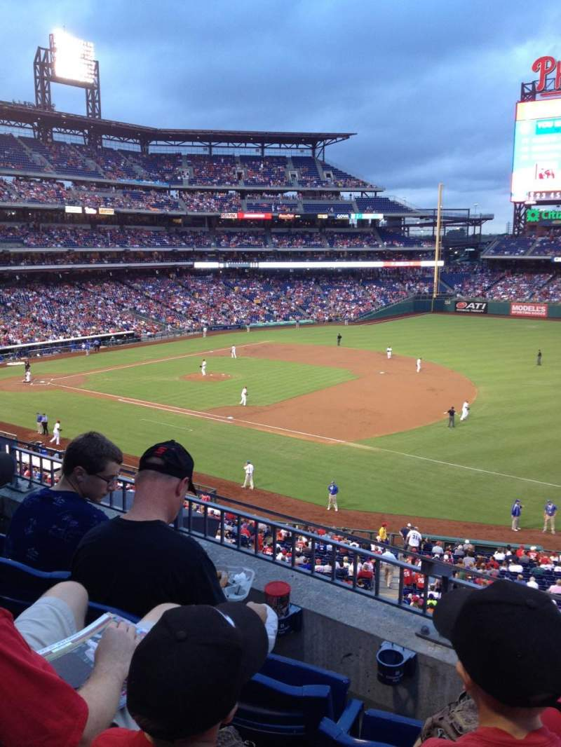 Seating view for Citizens Bank Park Section 211 Row 3 Seat 3