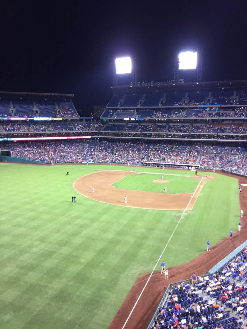 Seating view for Citizens Bank Park Section 333 Row 1 Seat 23