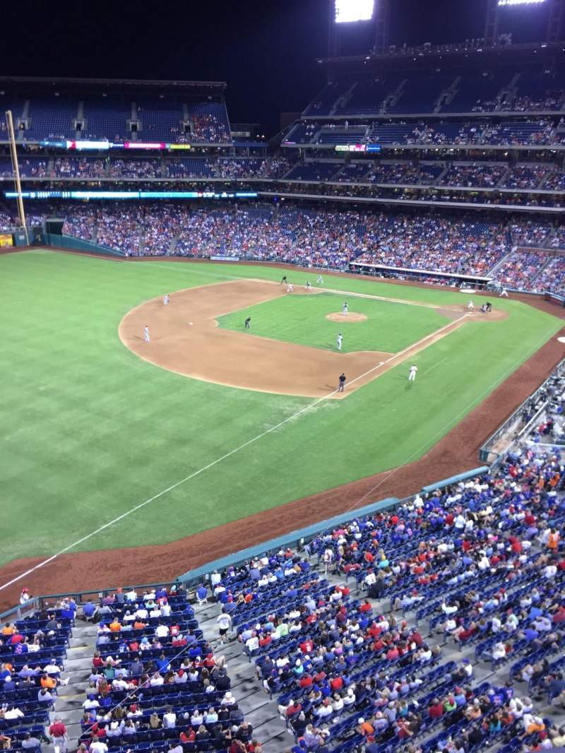 Seating view for Citizens Bank Park Section 331 Row 1 Seat 23