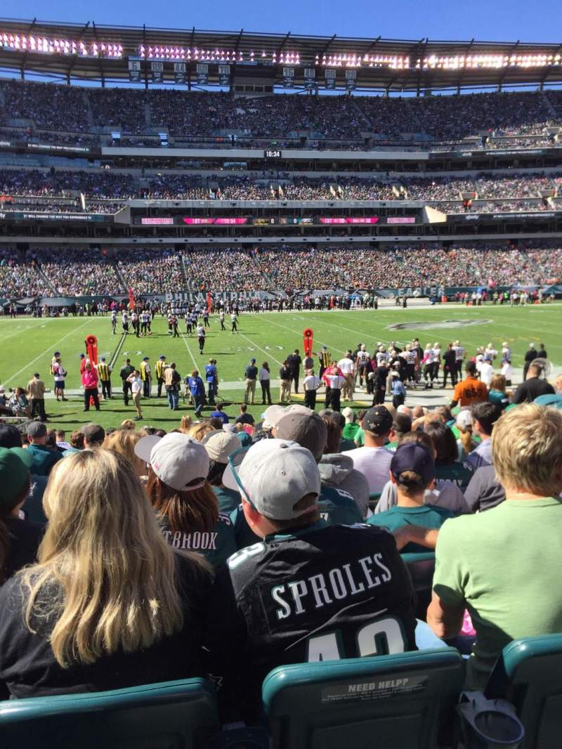 Seating view for Lincoln Financial Field Section 118 Row 14 Seat 10