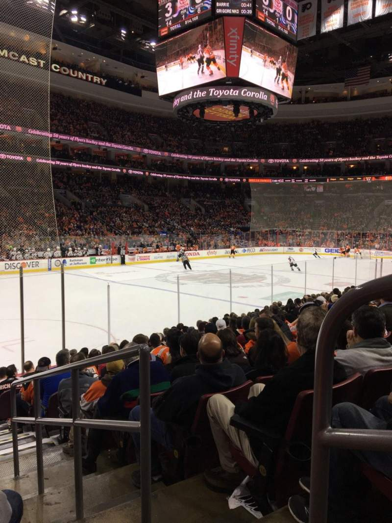 Seating view for Wells Fargo Center Section 110 Row 12 Seat 14