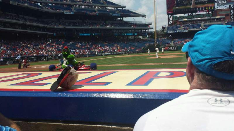 Seating view for Citizens Bank Park Section 117 Row 2 Seat 9