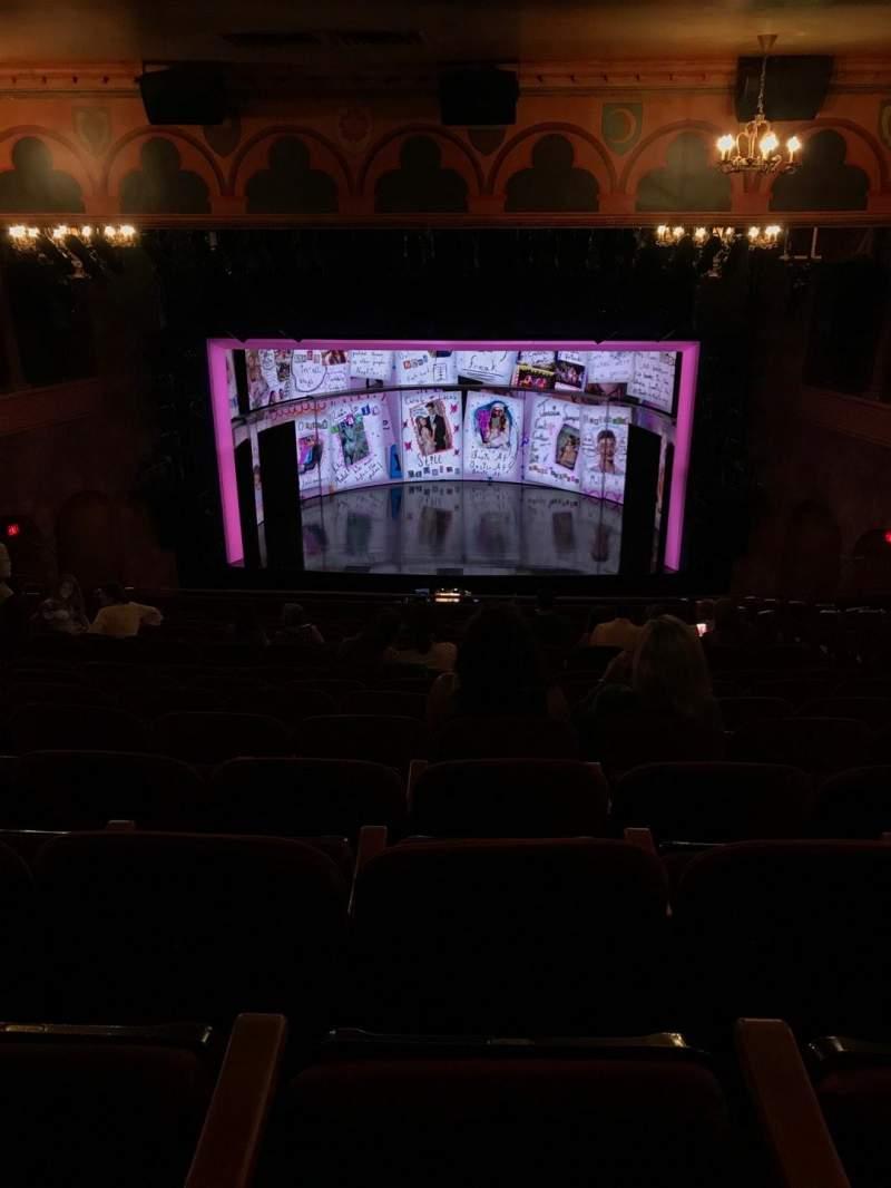 August Wilson Theatre, section: Mezz, row: P, seat: 105
