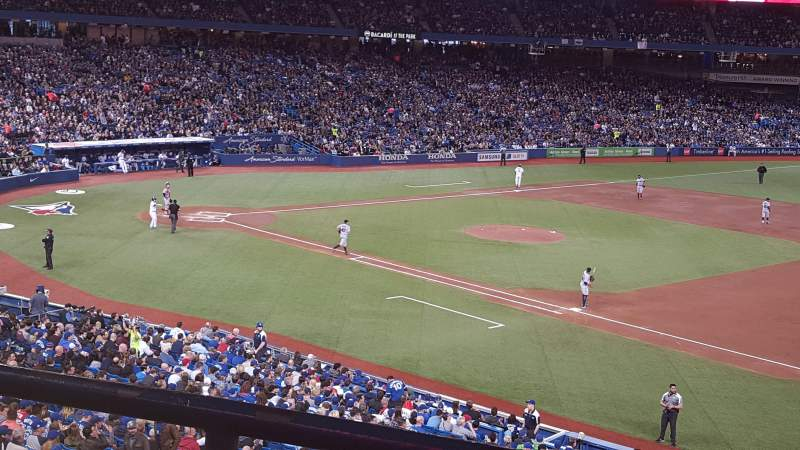 Seating view for Rogers Centre Section 215R Row 2 Seat 1