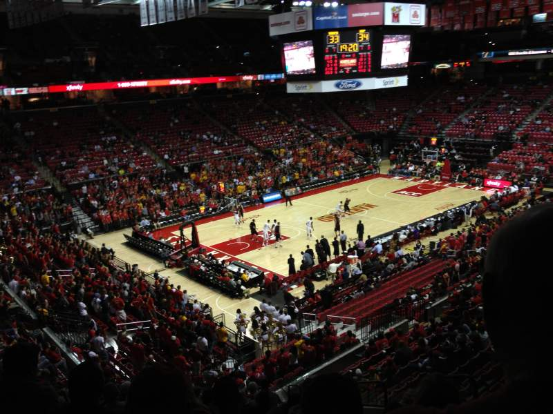 Seating view for Xfinity Center (Maryland) Section 118 Row 17 Seat 5