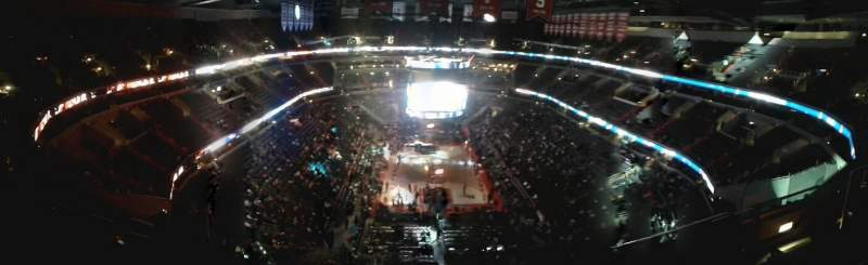 Seating view for Capital One Arena Section 408 Row k Seat 13