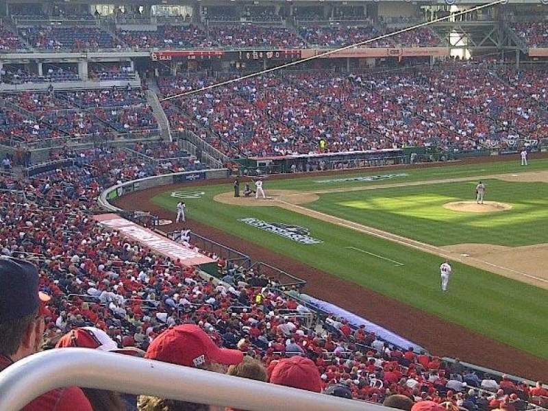 Seating view for Nationals Park Section 227 Row g Seat 18