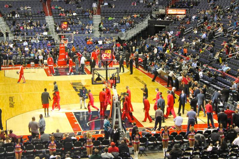 Seating view for Verizon Center Section 116 Row w Seat 1