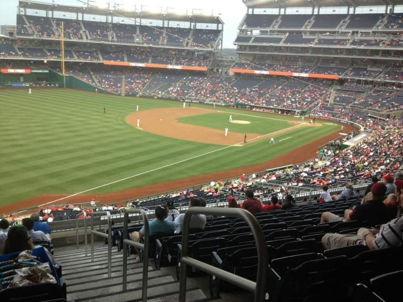 Seating view for Nationals Park Section 202 Row M Seat 1