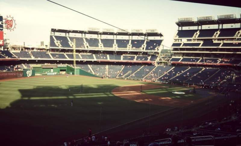 Seating view for Nationals Park Section 202 Row N Seat 8