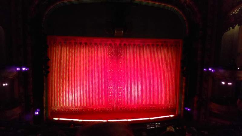 Seating view for New Amsterdam Theatre Section Mezzanine C Row GG Seat 114