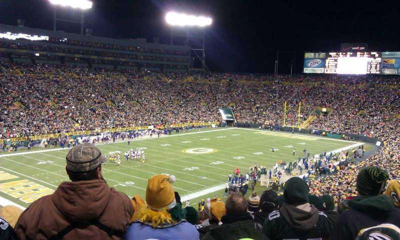 seating view for lambeau field section 108 row 59 seat 22