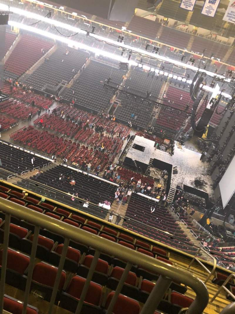 Seating view for Prudential Center Section 215 Row 2 Seat 13
