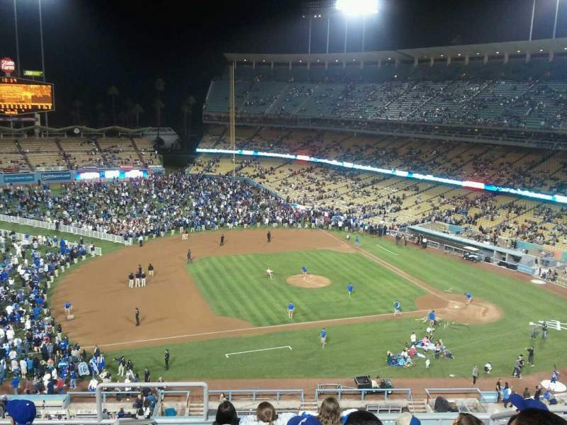 Seating view for Dodger Stadium Section 19RS Row G Seat 22