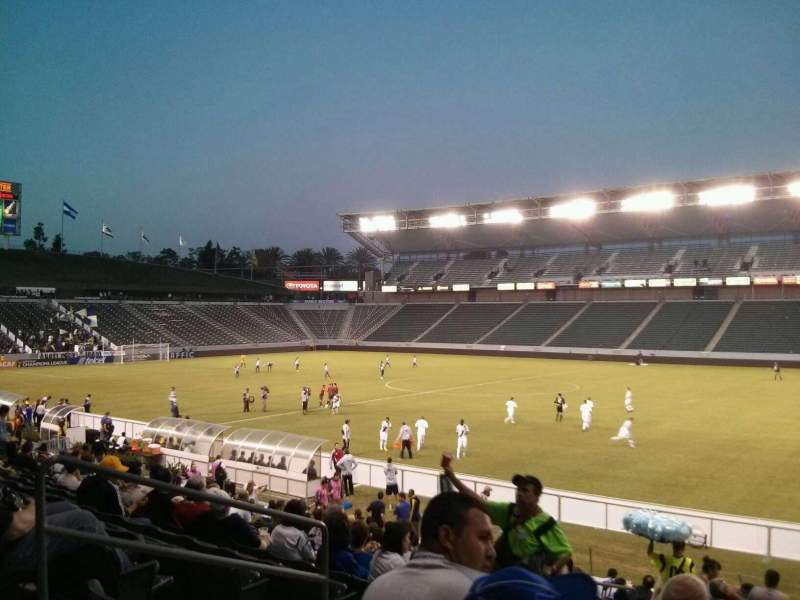 Seating view for StubHub Center Section 108 Row S Seat 20