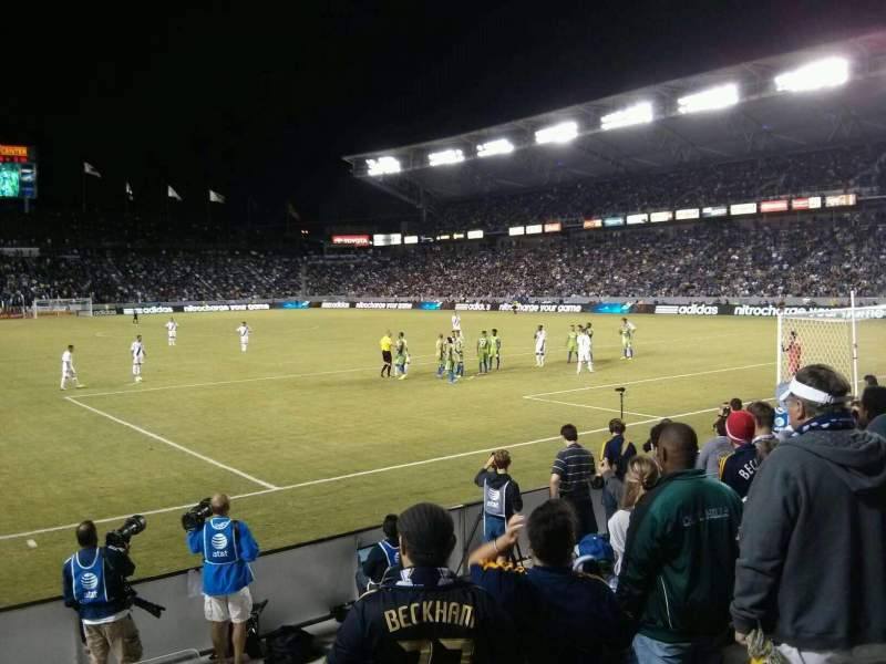 Seating view for StubHub Center Section 103 Row E Seat 1