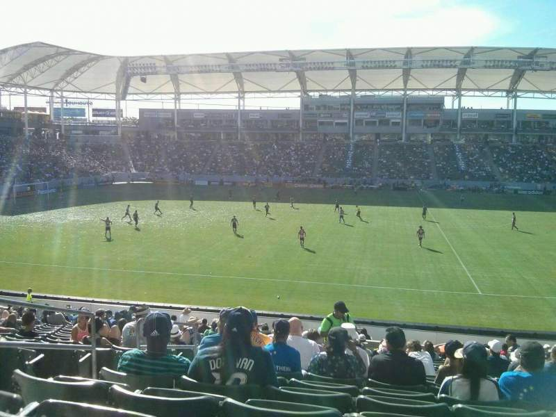 Seating view for StubHub Center Section 132 Row W Seat 18