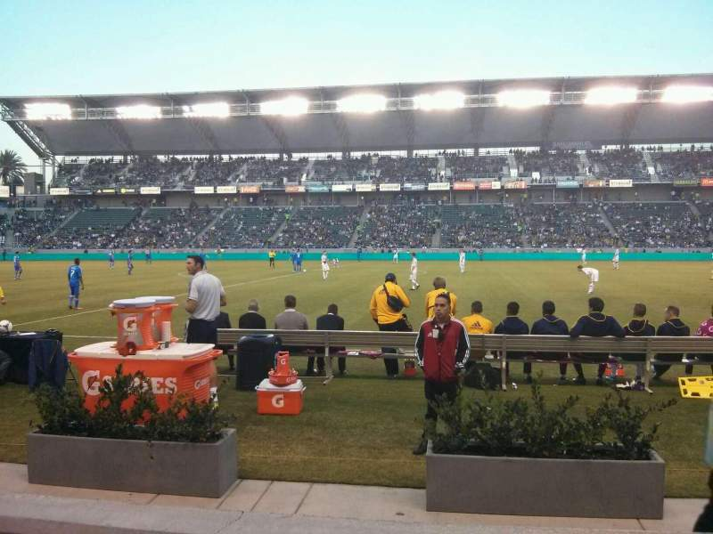 Seating view for StubHub Center Section 110 Row B Seat 17