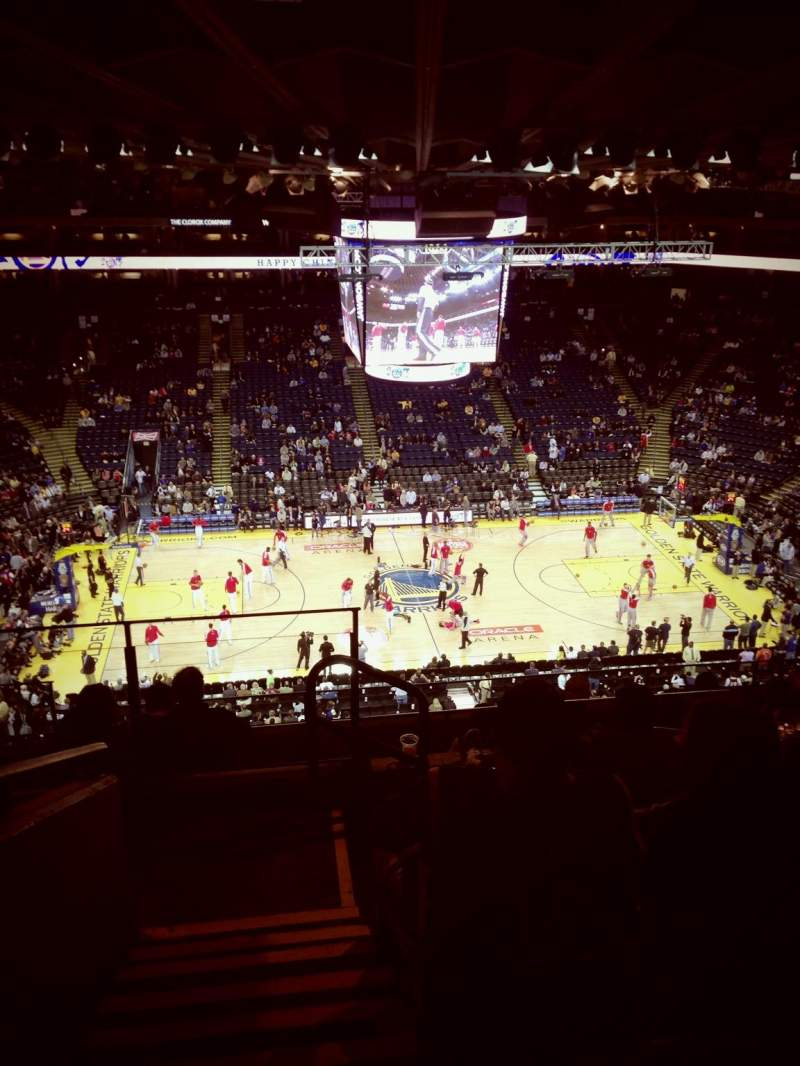 Seating view for Oracle Arena Section 217 Row 10 Seat 15